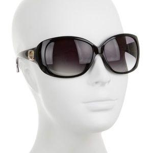 Jimmy Choo Gold Emblem Black Logo Sunglasses